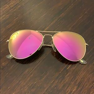 Diff Sunglasses Cruz - Matte Gold + Pink Mirror